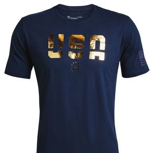 Under Armour USA Freedom Navy Blue T-Shirt NEW